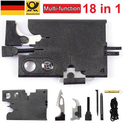 CreditCard Knife Messer Multitool Werkzeug 12in1 Überleben Outdoor Mini Karte