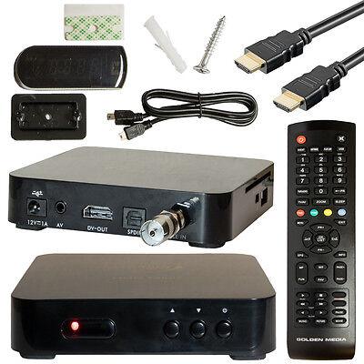Digitaler Kabel TV Receiver DVB-C Golden Media HDC Mini FULL HDTV Kabelanschluss Gold Hdtv-kabel