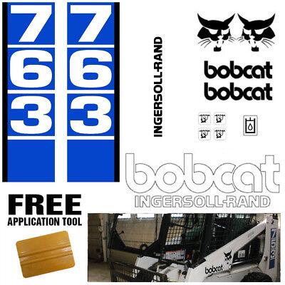 Bobcat 763 V1 Skid Steer Set Vinyl Decal Sticker Bob Cat Made In Usa Free Tool