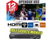 Openbox v8s + 12 months gift for UK/ROI viewing Access