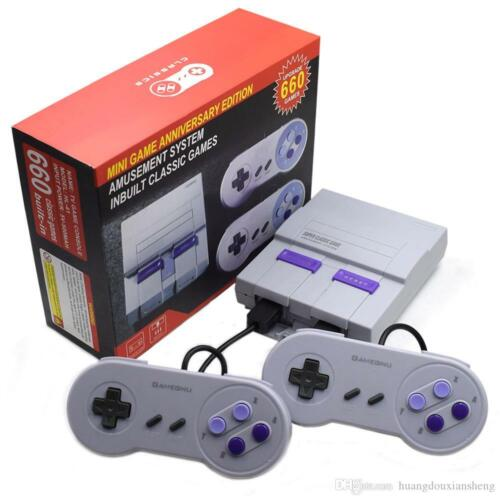 SNES Classic 660+ Games Retro Super Handheld Game Mini TV 8 Bit Nintendo Console