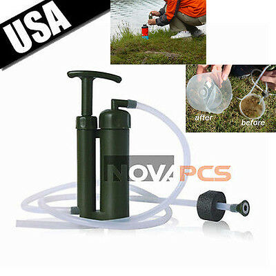 Camping Portable Personal WATER FILTER Purification Purifier Survival Gear New