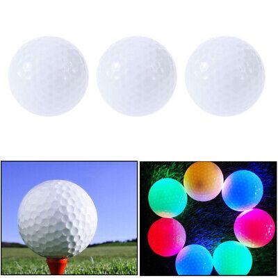 Light Up Golf Balls (3 Pcs Luminous Golf Balls LED Light Up Golf Balls Glow in the)