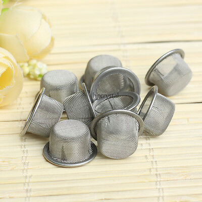 Cheap!! 10PCS Quartz Crystal Smoking Pipes Wand Metal Filters Accessories