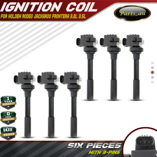 6x Ignition Coils For Holden Rodeo Tf Ra Jackaroo Frontera