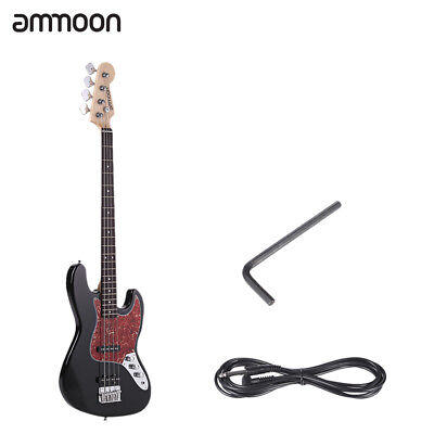 ammoon Black 4-string JB Electric Bass Guitar for Beginner H