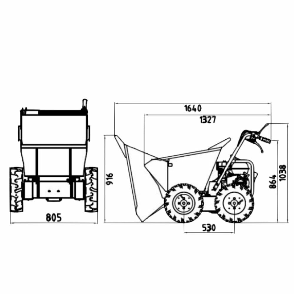 lumag md300r mini transporter minidumper raddumper kipper. Black Bedroom Furniture Sets. Home Design Ideas
