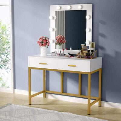 New Bedroom Makeup Vanity Set Dressing Table w/ 9 LED Light Dresser Desk