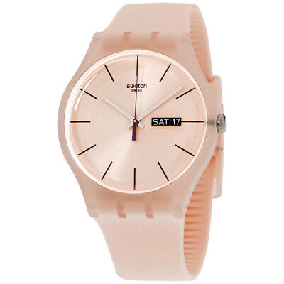 Swatch Originals Quartz Movement Pink Dial Unisex Watch SUOT700 **Open Box**