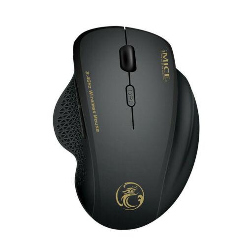 Wireless Gaming Mouse Cordless Optical Mice 6 Keys USB Nano