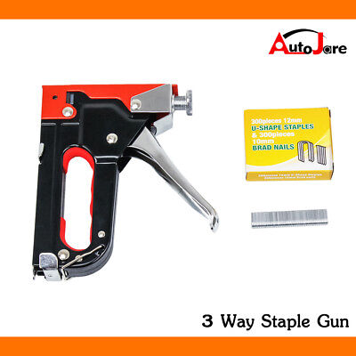 Tacker Kit - DIYStaple Gun Metal 3 Way Tacker Kit 900staple Upholstery Fabric Stapler Tacker
