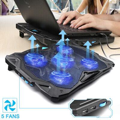 "TeckNet Laptop Cooling Pad 5 Fans Silent Gaming Notebook Cooler fit 12""-17"" inch"