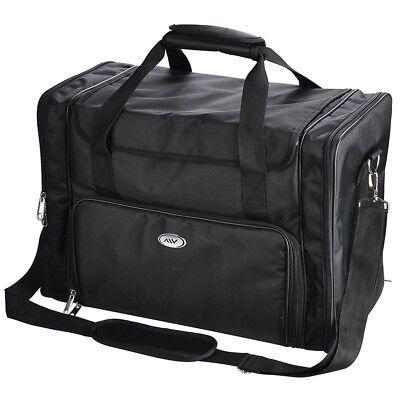 1200D Soft Makeup Bag Case Pockets Train Artist Cosmetic Organizer Box Black