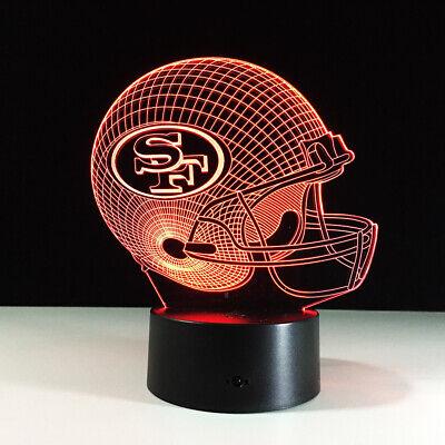 San Francisco 49ers Niners 3D LED NFL Lamp Colin Kaepernick Home Decor Gift](49ers Decorations)