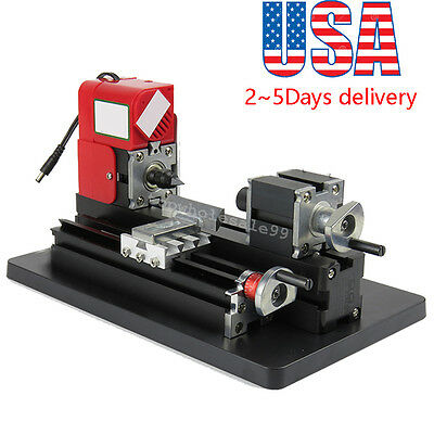 Metal Working Lathe Motorized Machine Diy Tool Metal Woodworking 20000rpmm 24w