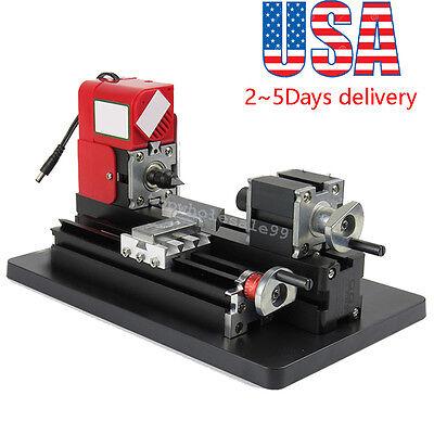 Metal Working Lathe Motorized Machine Diy Tool Metal Woodworking 20000rpmm 24w