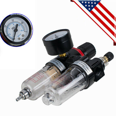 14 Air Filter Pressure Regulator Oilwater Separator Trap Compressor 40m Usps
