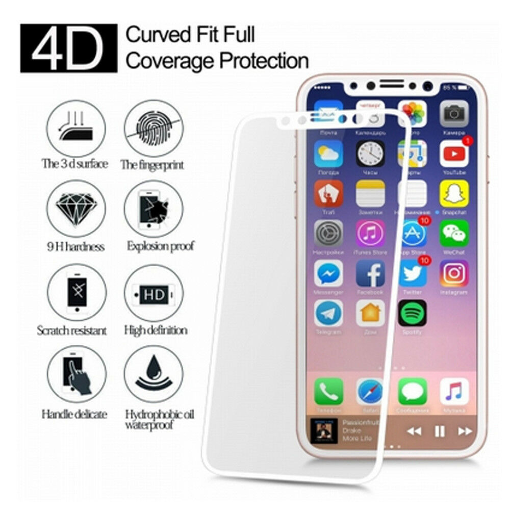 For Apple iPhone X Premium Full Coverage Tempered Glass Screen Protector Film Cell Phone Accessories