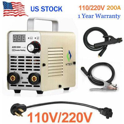 110v220v Arc Welding Machine Portable Dc Inverter Mini Mma Welder 10-200a Igbt