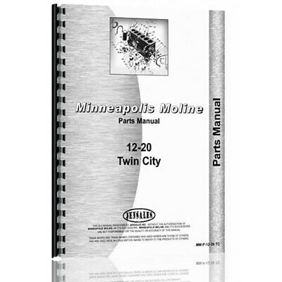 Tractor Parts Manual For Minneapolis Moline 20-12