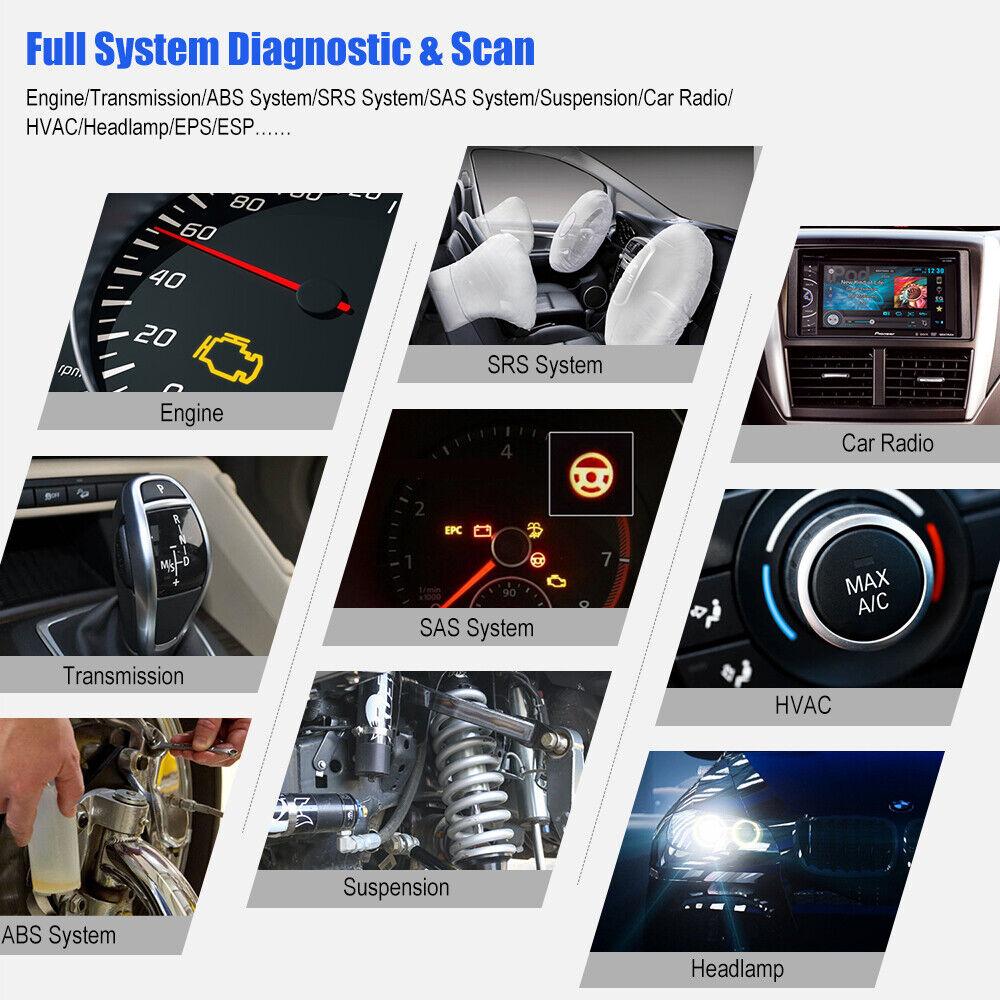 Automotive Full System OBD2 Diagnostic Scanner Car ABS EPB