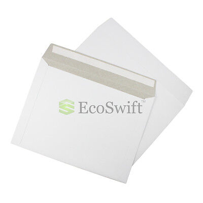 5 - 12.5 X 9.5 Self Seal White Photo Shipping Flats Cardboard Envelope Mailers