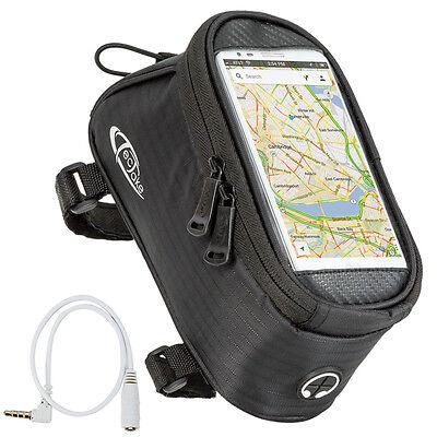 Fahrradtasche M Rahmentasche Handy Oberrohrtasche Smartphone Tasche schwarz