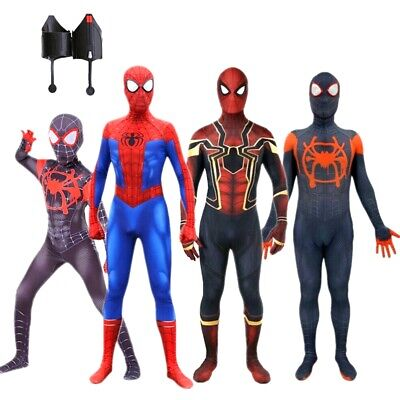 Spider Man Into the Spider Verse Costume Kids Adult Miles Morales Cosplay - Spider Man Costume Kids