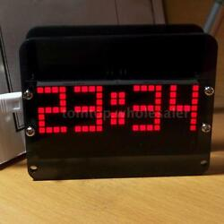 DS3231 DIY Dot Matrix LED Electronic Clock Kit Digital Temp Display Alarm Clock