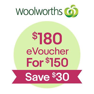 Woolworths $180 eVoucher