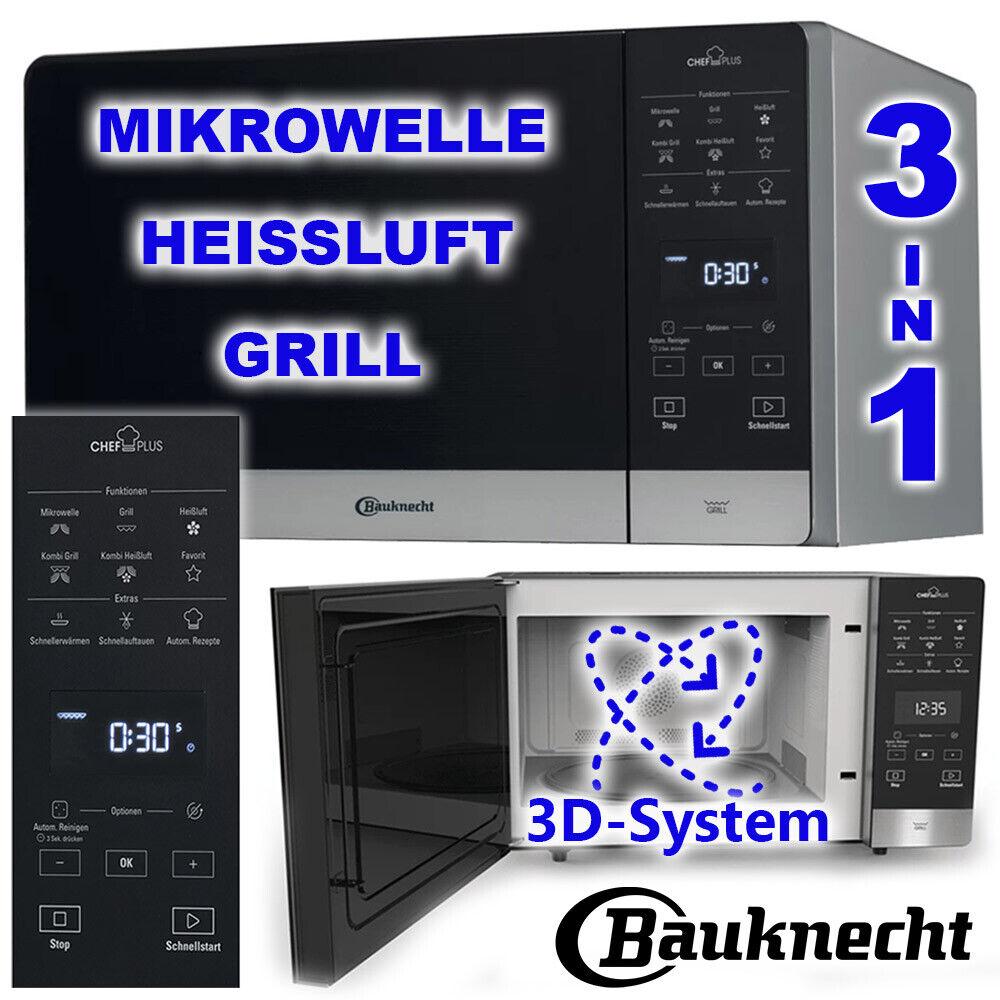 Bauknecht Mikrowelle Quarz Grill Heißluft 25 Liter 3D Kombi 3in1 Gerät Microwave