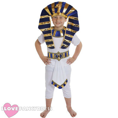 EGYPTIAN BOY COSTUME PHARAOH PRINCE ANCIENT KING HISTORICAL SCHOOL FANCY DRESS (Egyptian Prince Costume)