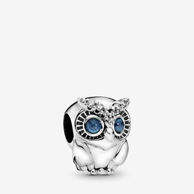Brand New on Sale!!! PANDORA Sparkling Owl Charm with Gift Pouch