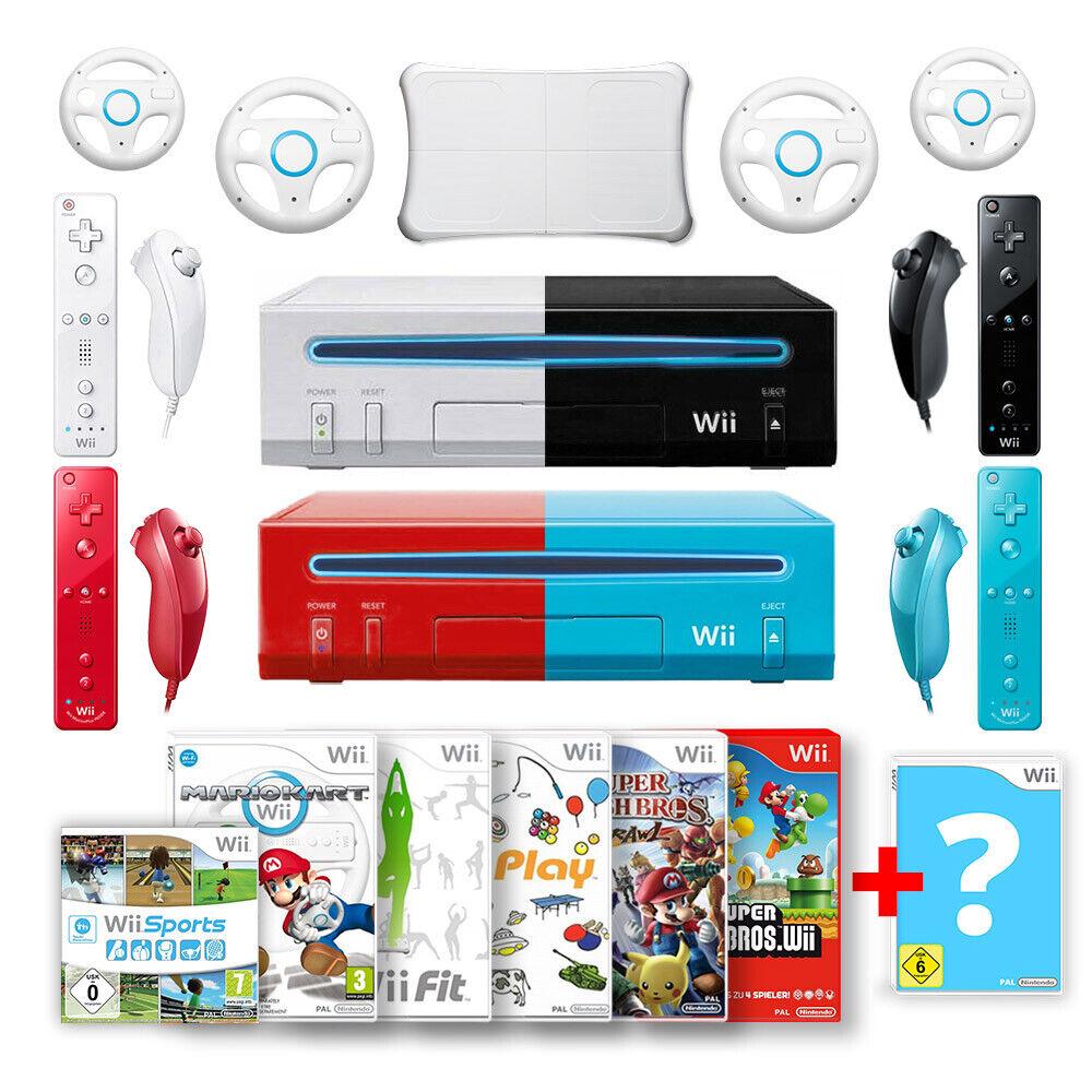 Nintendo Wii Konsole inkl. Controller & Spiele wie Mario Kart, Wii Fit, Sports