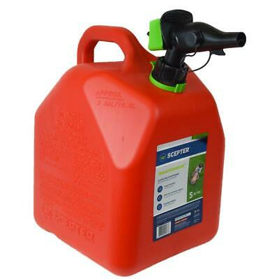 5 Gal Safety Gas Can Spare Gasoline Fuel Storage Portable Smartcontrol Container