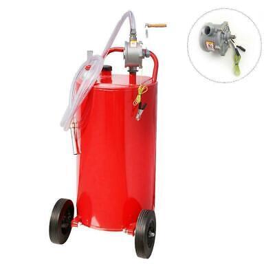 Portable 35 Gallon Gas Can Fuel Caddy Diesel Fluid Transfer Tank W Pump Hose