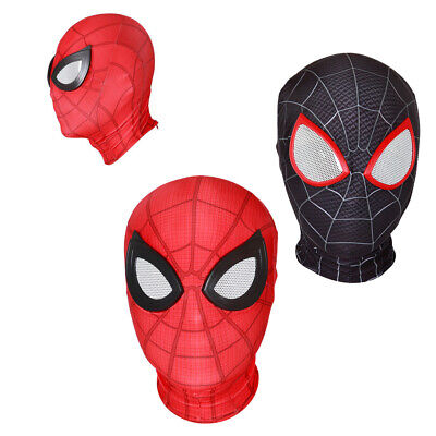 Adult Child Cosplay Super Hero Spider-Man Face Mask Headgear Party Costume Props Child Spider Man Mask