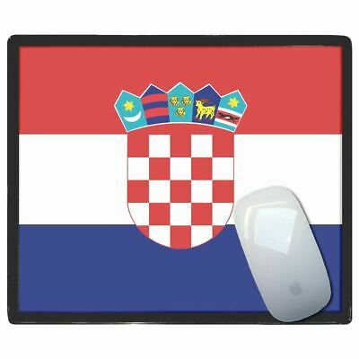 Croatia Flag - Thin Pictoral Plastic Mouse Pad Mat Badgebeast
