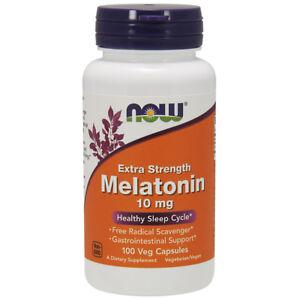 NOW Foods Melatonin 10 MG - 100 Vegetarian Capsules
