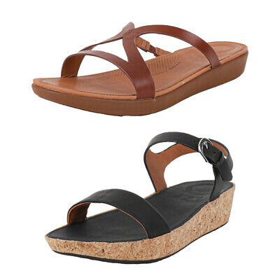 Womens FitFlop Strata Leather / Bon II Strap Sandals - 2 Styles - RRP: £89.99
