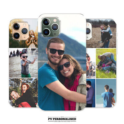PERSONALISED CUSTOM PHOTO COLLAGE SILICONE GEL PHONE CASE FOR IPHONE 6 7 8 X 11