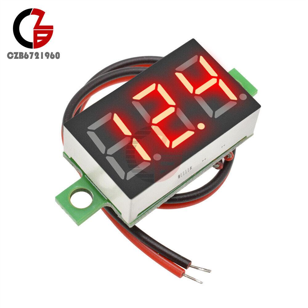 10Pcs Dc 0-100V Green Led 3-Digital Display Voltage Panel Motor Mini Voltmete zs