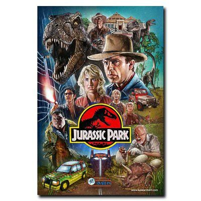 Jurassic Park24x36inch Classic Movie Silk Poster Art Print Wall Decoration Hot - Jurassic Park Decorations