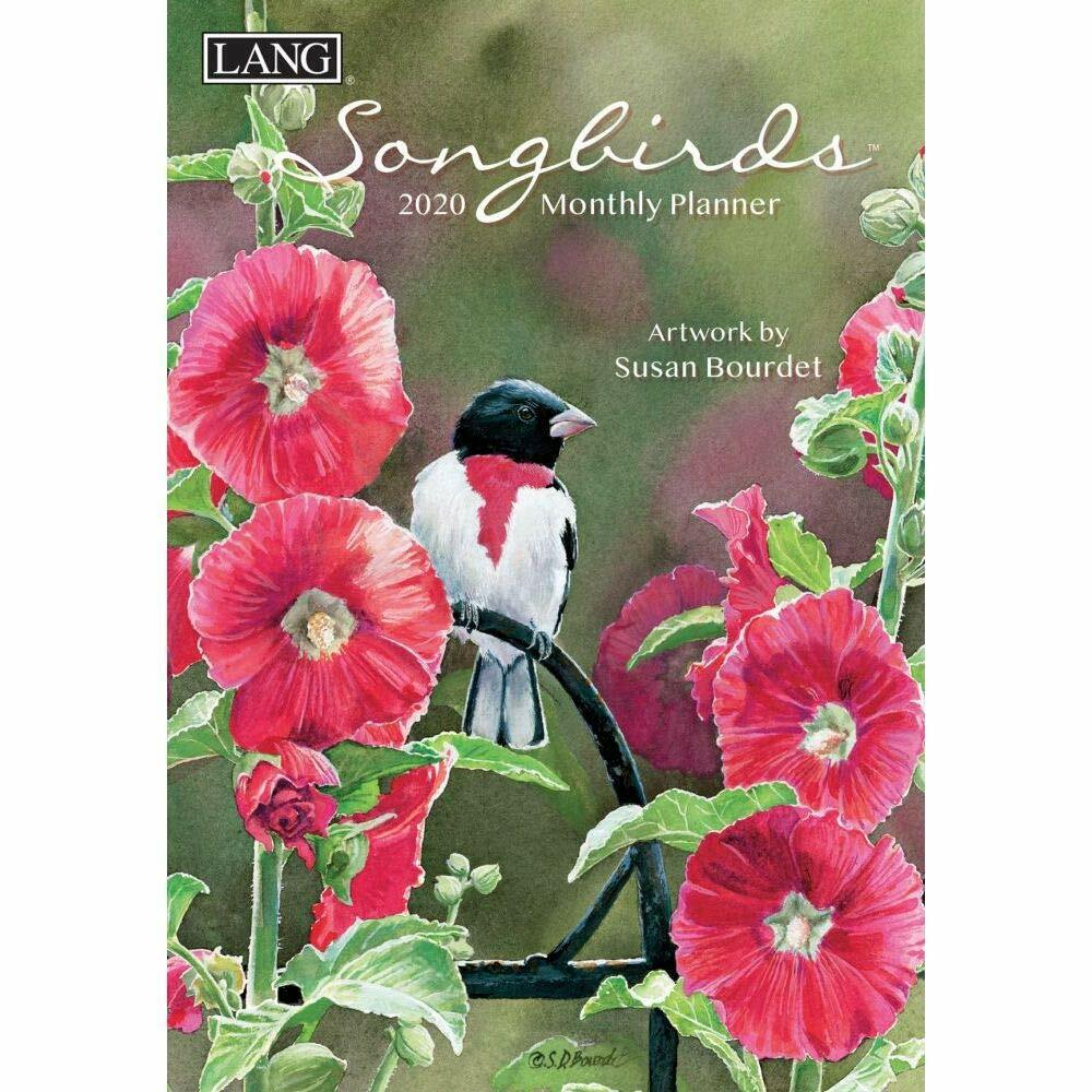 songbirds 2020 monthly planning calendar planner 12120