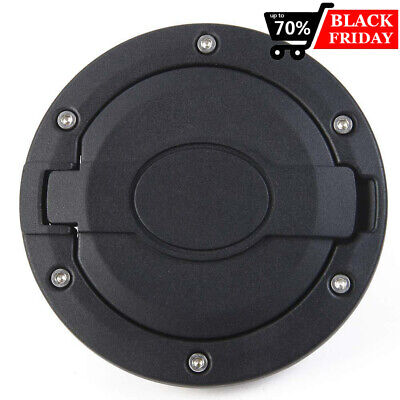 Gas Cap Cover Aluminum Fuel Filler Door for Jeep Wrangler 2007-2018 JK Unlimited Aluminum Fuel Cap