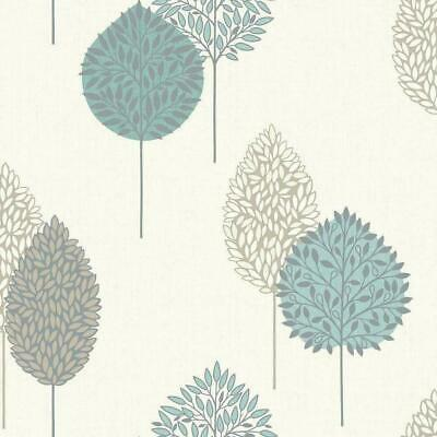 - Imperfect Teal Cream Brown Metallic Silver Leaf Leaves Textured Vinyl Wallpaper