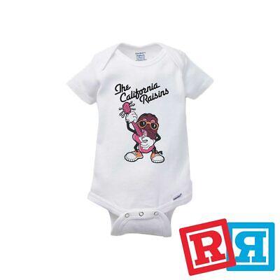 California Raisins Baby Onesie 80's TV Characters Gerber Organic - Baby Tv Characters
