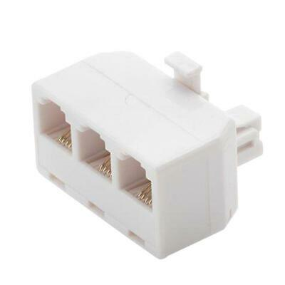 Commercial Electric 3-Way Telephone Splitter - White ()