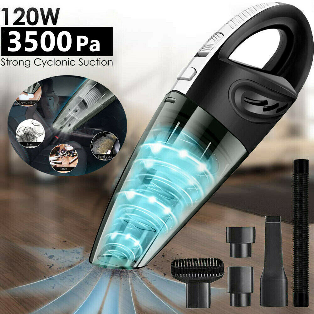 Cordless Car Vacuum Cleaner Protable Handheld Wet Dry Strong Suction Cleaner Home & Garden