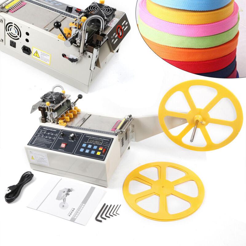 280W Automatic Hot Cold Tape Cutting Machine Elastic Belt Rope Textile Cutter